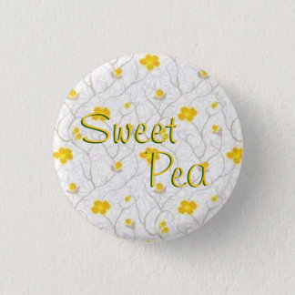 Sweet Pea 1 Inch Round Button