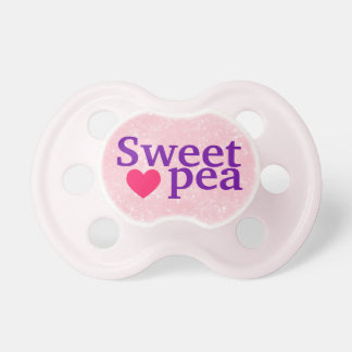 """Sweet pea"" Baby Girl Pacifier"