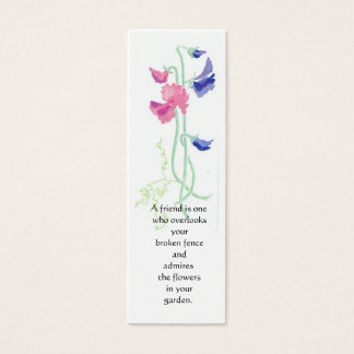 Sweet Pea Bookmark Mini Business Card