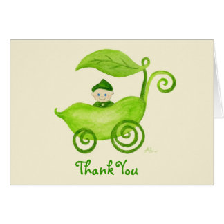 Sweet Pea Boy Thank You Notecard Stationery Note Card