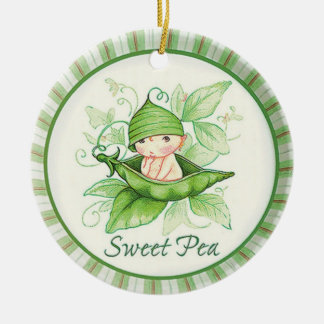 Sweet Pea Ceramic Ornament