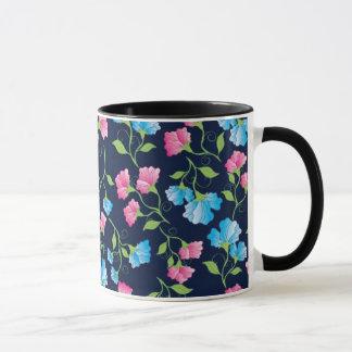 Sweet Pea Dark Blue Mug