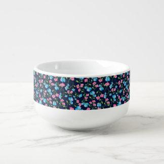 Sweet Pea Dark Blue Soup Mug