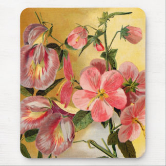 Sweet Pea Flowers Mouse Pad