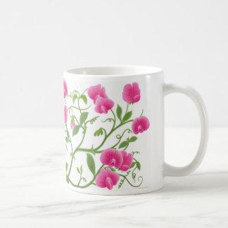 Sweet Pea Garden Flowers Mug