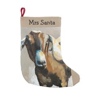 Sweet Pea Goat Farmhouse Christmas Stocking Small Christmas Stocking