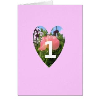Sweet Pea Greeting Card