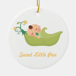 Sweet Pea in a Pod Baby Boy Nursery Room Decor Ceramic Ornament