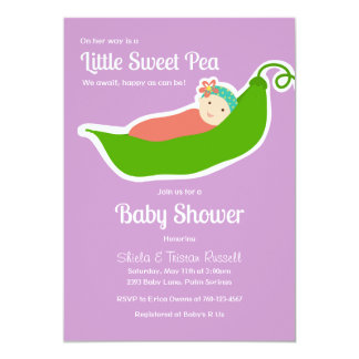 Sweet Pea in a Pod (Purple/Pink) Card