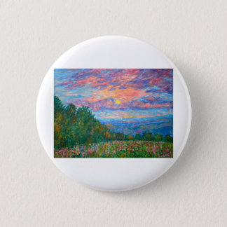 Sweet Pea Morning on the Blue Ridge 2 Inch Round Button