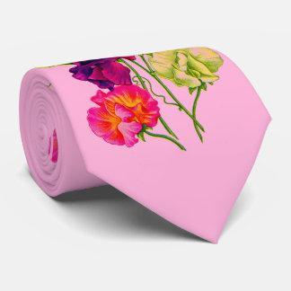sweet pea print tie