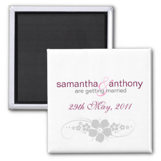 sweet pea save the date magnet
