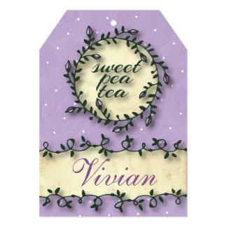 """Sweet Pea Tea Birthday –Purple 5"""" X 7"""" Invitation Card"""