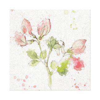 Sweet Pea watercolor Canvas Print