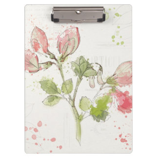 Sweet Pea watercolor Clipboard