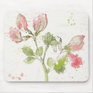 Sweet Pea watercolor Mouse Pad