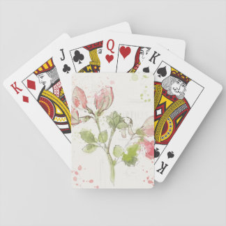 Sweet Pea watercolor Playing Cards