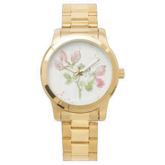 Sweet Pea watercolor Watch