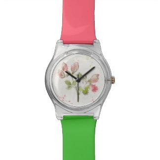 Sweet Pea watercolor Watch