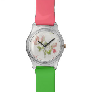 Sweet Pea watercolor Watches