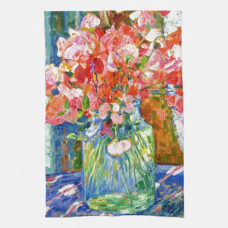 Sweet Peas by Theo van Rysselberghe Kitchen Towel