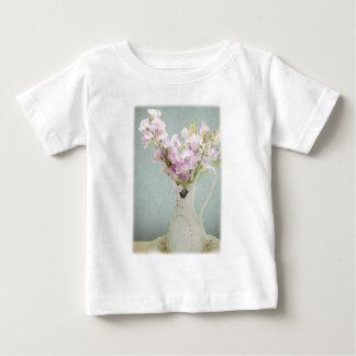 Sweet Peas in Antique Vase Baby T-Shirt