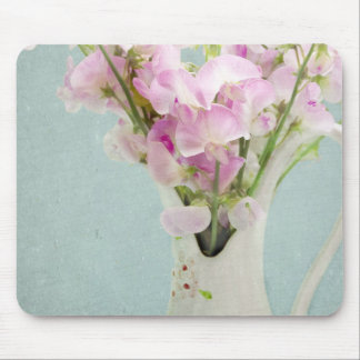 Sweet Peas in Antique Vase Mouse Pad