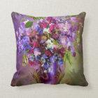 Sweet Peas In Sweet Pea Vase Art Decorator Pillow