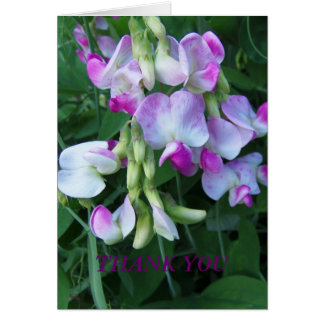 Sweet Peas/Thankful Card