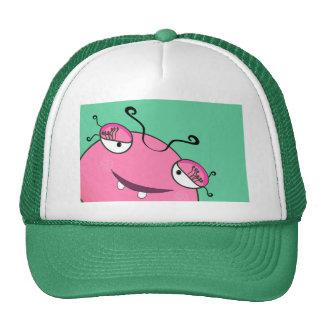 Sweet Peeking Girly Monster Trucker Hat