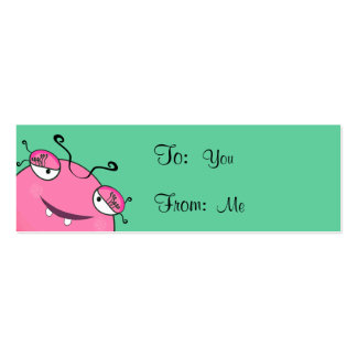Sweet Peeking Girly Monster Mini Business Card