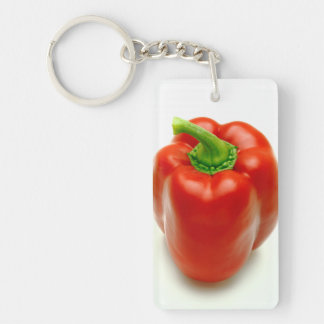 Sweet pepper Double-Sided rectangular acrylic keychain