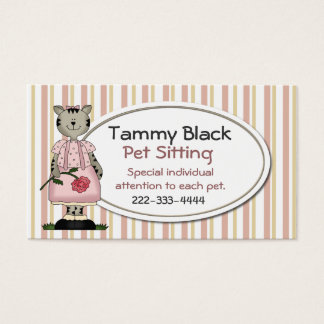 Sweet Pet Sitting Business Card