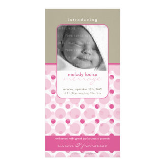 SWEET PHOTO  BIRTH ANNOUNCEMENTS :: hello baby 9 Card