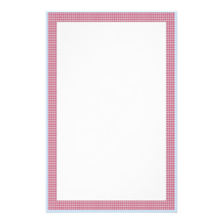Sweet Picnic Check Stationery Paper
