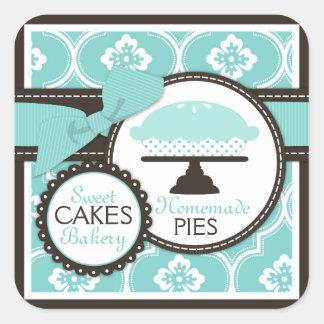 Sweet Pie Sticker Business Sticker Turquoise