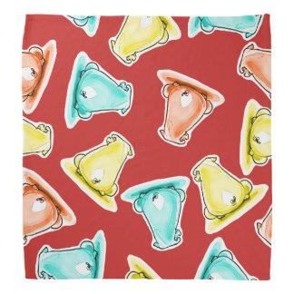 sweet piggies festive color funny cartoon bandana