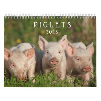 Sweet Piglets 2018 - Baby Pigs Wall Calendar