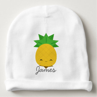 Sweet pineapple custom cotton baby beanie