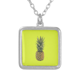 Sweet Pineapple Silver Plated Necklace