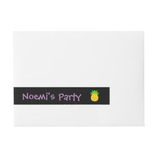 Sweet pineapple wrap around address labels