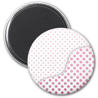 Sweet Pink and White Polka Dot Pattern Design Magnet