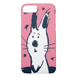 Sweet Pink and White Rabbit iPhone 7 case