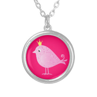 Sweet Pink Bird - Necklace