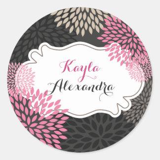 Sweet Pink Blooms - Circle Sticker