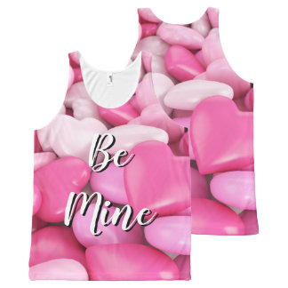 Sweet Pink Candy Hearts Be Mine Tank Top