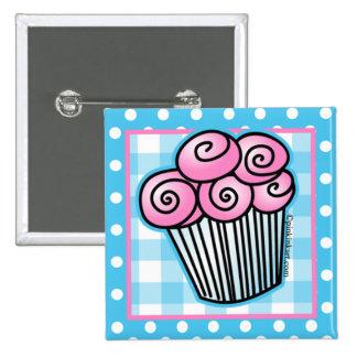 Sweet Pink Cupcake Button