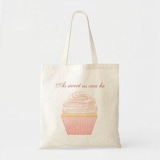 Sweet Pink Elegant Cupcake Bag