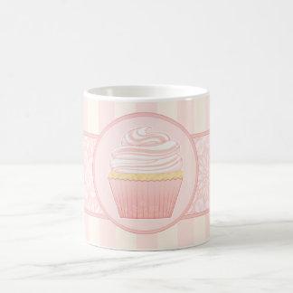 Sweet Pink Elegant Cupcake Classic White Coffee Mug