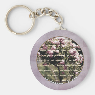 Sweet Pink Garden of Roses Keychains